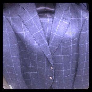 Anzüge Ermenegildo Zegna Paris Luxury Designer Suit Jacket Striped Classic Fit 40r Jade Weiß